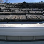 "Composite Material ""Fake Shake"" Roof with Gutterglove"