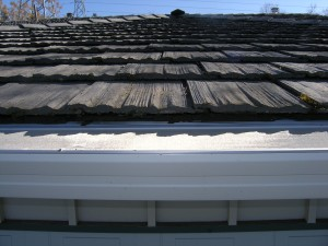 """Composite Material """"Fake Shake"""" Roof with Gutterglove"""