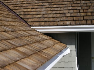 Gutterglove on cedar shake roof