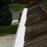 Cedar shake roof with Gutterglove