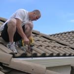 Gutterglove installation on tile roof