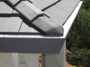 Flat tile roof with Gutterglove