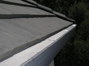 Gutterglove on flat tile roof